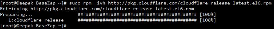add cloudflare rpm