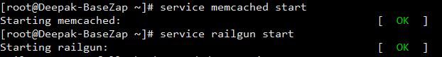start memcached railgun
