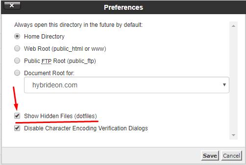 settings popup window