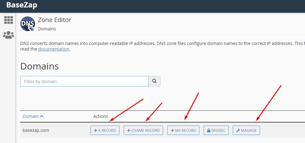 domains list