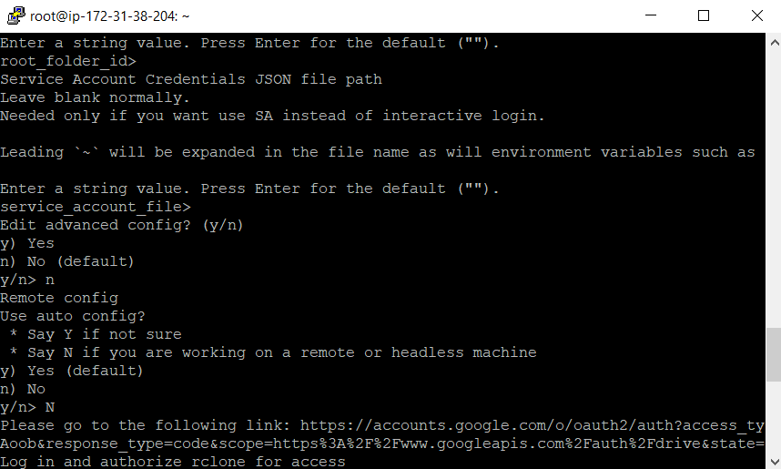 Rclone verification code