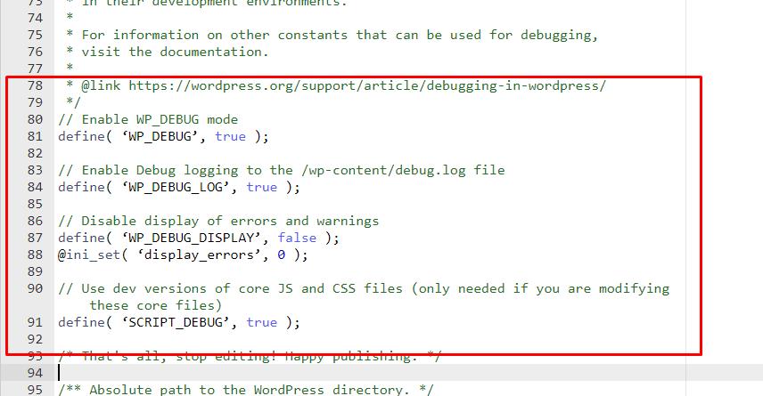 WordPress Debugging and Error Logs