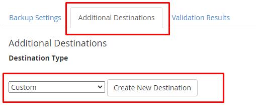 dropbox custom destination